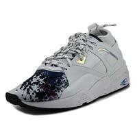Puma B.O.G Sock Explosive Women  Round Toe Leather White Sneakers