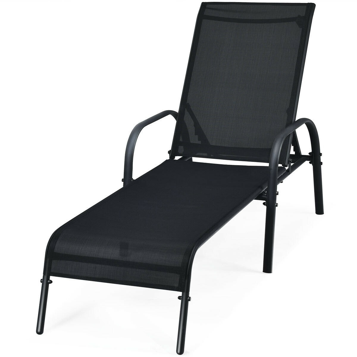 Shop Outdoor Patio Chaise Lounge Chair Sling Lounge Recliner Overstock 32306190