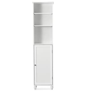 Costway Bathroom Storage Cabinet Tower Bath Cabinet Storage Shelving Display Cabinet