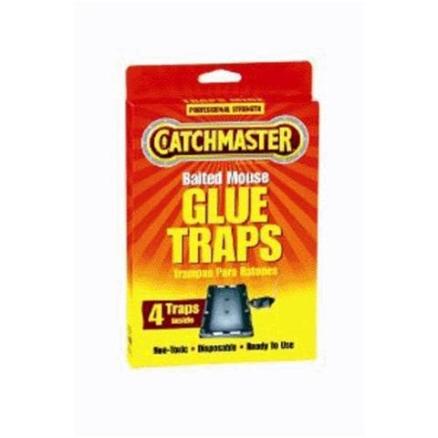 Catchmaster 104 Baited Mouse Glue Traps 4/Pack