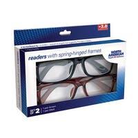 Women's Readers - Spring Hinged Reading Glasses - Set of 2 - Multi