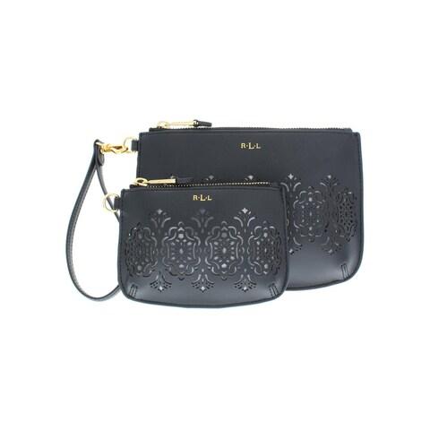 Lauren Ralph Lauren Womens Lauderdale Clutch Handbag Laser Cut Pouch - Small