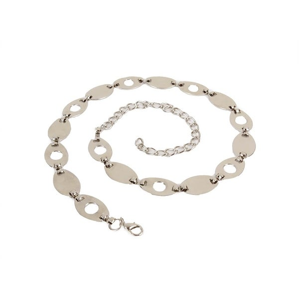 Style & Co. Women's Oval Linked Metal Chain Belt - Nickel