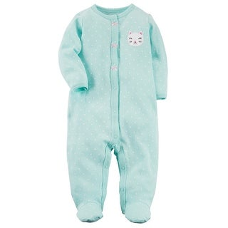 Carter's Baby Girls' Bunny Snap-Up Cotton Sleep & Play, 9 Months - 9 Months