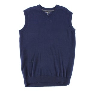 Club Room NEW Navy Blue Mens Size LT Pullover Vest Wool Sweater