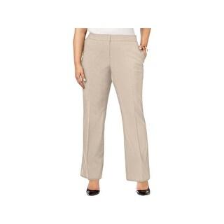 Calvin Klein Womens Plus Dress Pants Flat Front Regular Fit