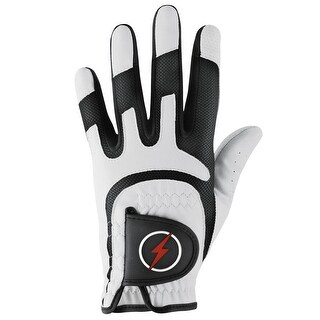 Powerbilt Junior One-Fit Golf Glove - LH White/Black