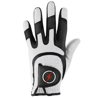 Powerbilt One-Fit Adult Golf Glove - Mens RH White/Black