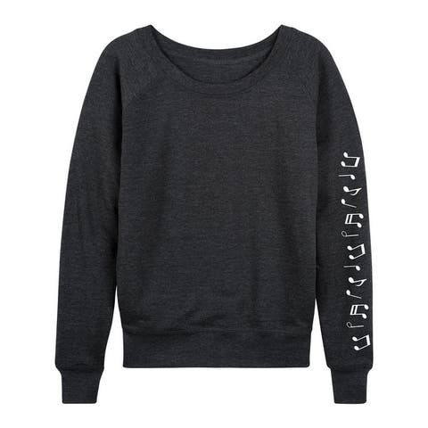 Music Notes - Women's Lightweight French Terry Pullover