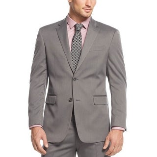 Jones New York Graham Grey Herringbone 2-Button Sportcoat Blazer 41 Regular 41R
