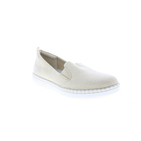 Clarks Step Glow Slip Gold Womens Lifestyle Sneakers