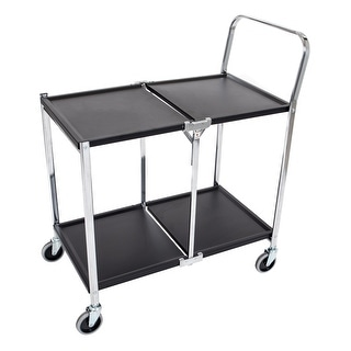 Offex Two-Shelf Collapsible Metal Utility Cart