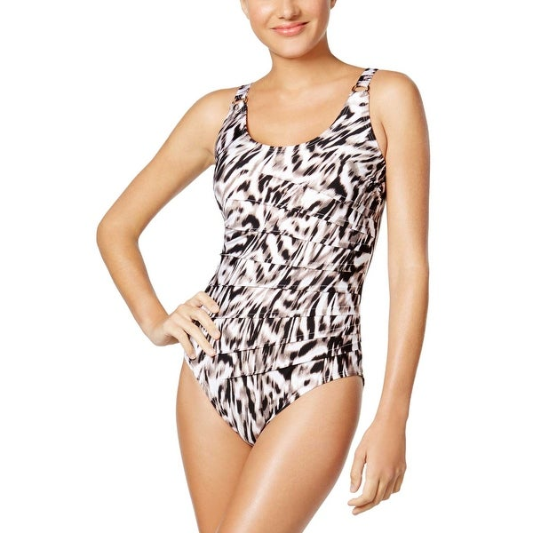 128abee4b4 Shop Calvin Klein Womens Savannah Tiered One Piece Swimsuit 10 Swimwear -  Free Shipping On Orders Over  45 - Overstock - 21861559