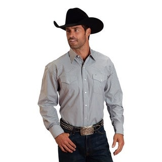 Stetson Western Shirt Mens Long Sleeve Grey 11-001-0476-0800 GY