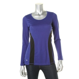 Lauren Ralph Lauren Womens Heathered Colorblock Base Layer