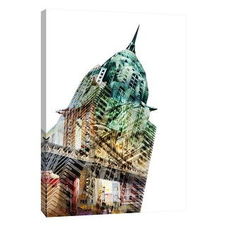 """PTM Images 9-109023  PTM Canvas Collection 10"""" x 8"""" - """"New York Spirit"""" Giclee Chrysler Building Art Print on Canvas"""