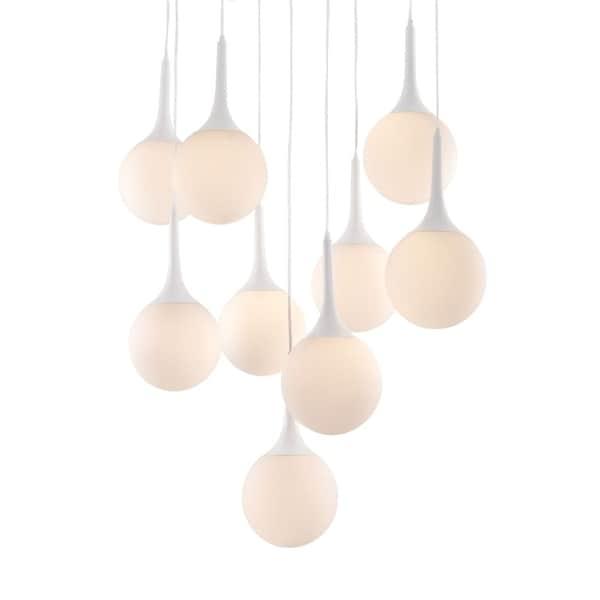 zuo modern lighting zuo modern epsilon pendant light with globe shade white shop