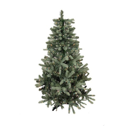 9' Pre-Lit Blue Spruce Full Artificial Christmas Tree - Clear Lights