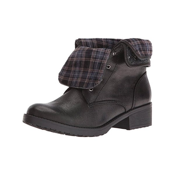 Baretraps Womens Olympia Combat Boots Faux Leather Plaid - 6 medium (b,m)