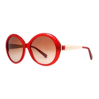 MICHAEL KORS Round MK 2015B Women's 3089 13 Clear Burgundy Red Brown Gradient Sunglasses - 58mm-18mm-135mm