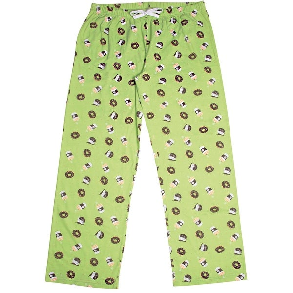 0d344f00e6a8 Late Night Snacks Women  x27 s Pajama Lounge Pants Coffee  amp  Donut -