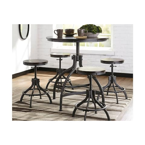 Ashley D284-223 Adjustable Height DRM Counter Table Set