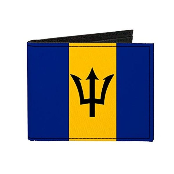 Buckle-Down Canvas Bi-fold Wallet - Barbados Flag Accessory