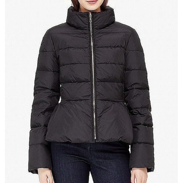 Kate Spade Women's Puffer Peplum Mock Neck Jacket