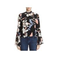 Yumi Kim Womens Blouse Silk Printed