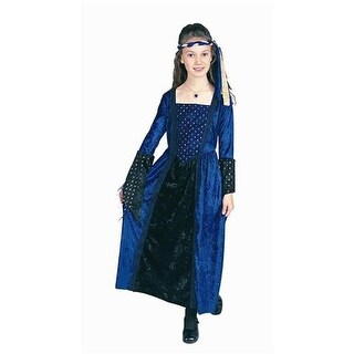 RG Costumes 91163-M Renaissance Girl Blue Costume - Size Child-Medium
