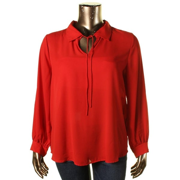 Vince Camuto Womens 70s Dream Blouse Crepe Tie Neck - m