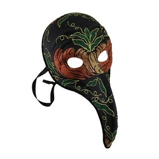 Black Plague Doctor Style Long Curved Nose Fancy Carnival Mask