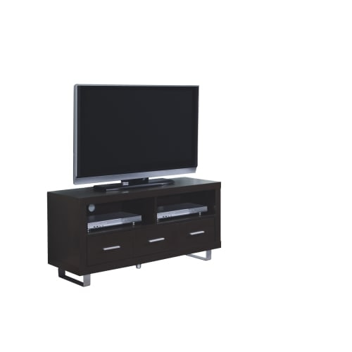 Shop Monarch Specialties I 2503 48 Inch Wide Tv Stand With 3 Drawers