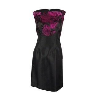 Tahari Women's Sleeveless Metallic Sheath Dress
