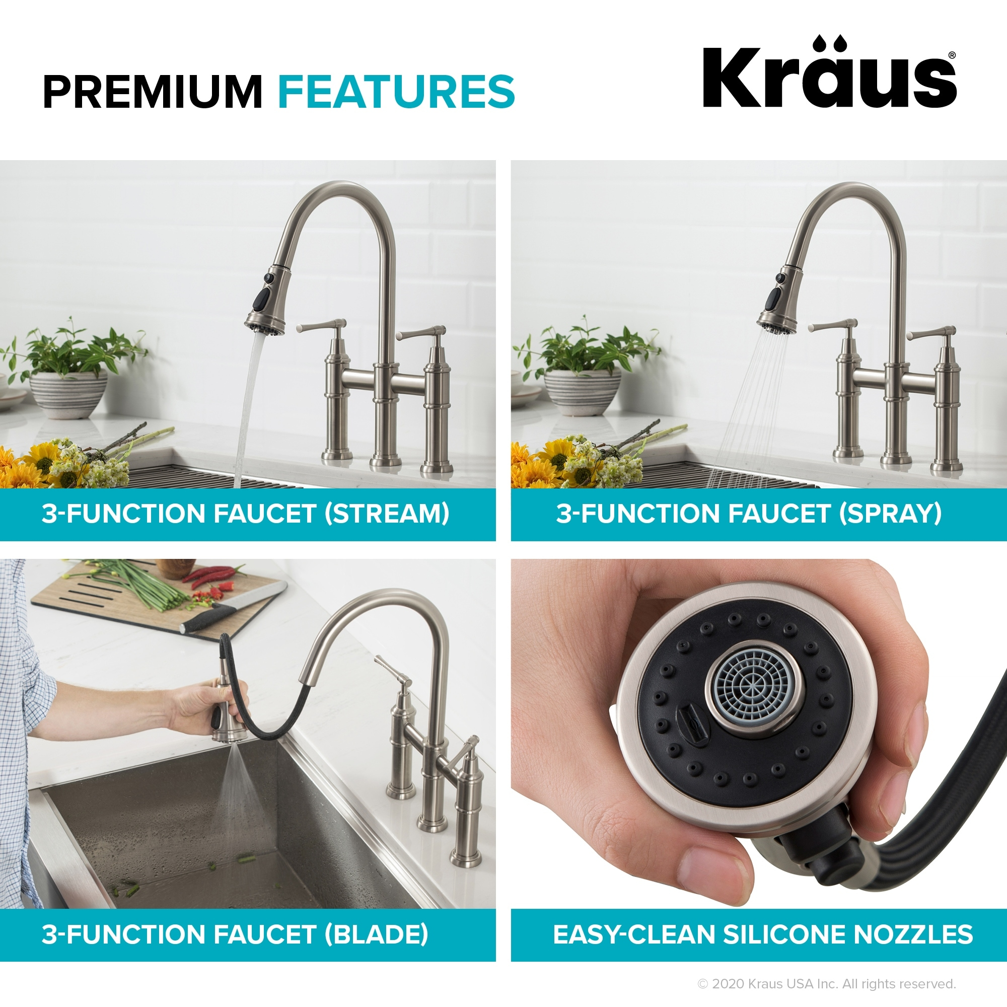 Shop Kraus Kpf 3121 Allyn Bridge Kitchen Faucet W Pull Down Sprayhead Overstock 30926030,Colors That Go With Light Purple Clothes