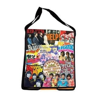 "Men's The Beatles Messenger Bag - Adjustable Strap - Interior Pockets - 13"" x 5""x 15"" - Multi-Colored"