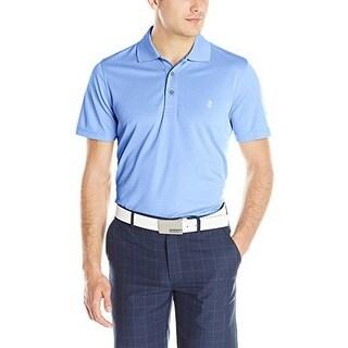 Izod Mens Solid Grid Polo Shirt