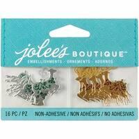 Jolees E5000621 Jolee's Christmas Embellishments 16/Pkg-Reindeer