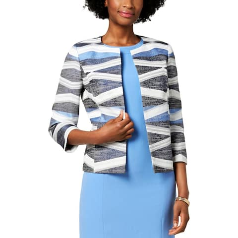 Kasper Womens Open-Front Blazer Suit Separate Office Wear