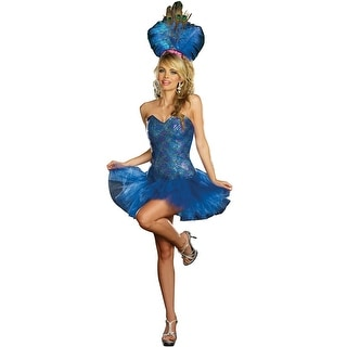 Dreamgirl Peacock Envy Adult Costume - Blue - Small