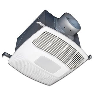 80 CFM 0.3 Sones Two Speed Ceiling Mounted Exhaust Fan with Energy Star Rating and LED Lighting