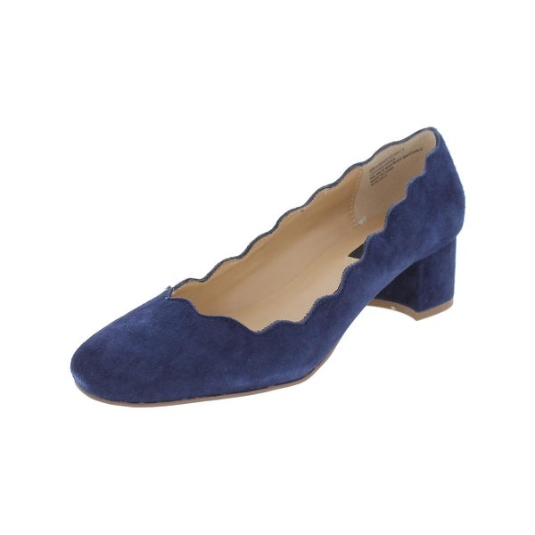 Kensie Womens Aubree Dress Heels Suede Scalloped