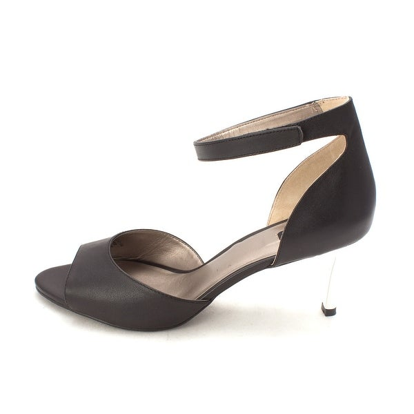 ARRAY Womens Chloe Leather Open Toe Ankle Strap D-orsay Pumps