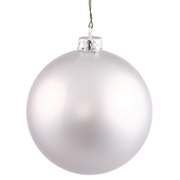 "Matte Silver UV Resistant Commercial Drilled Shatterproof Christmas Ball Ornament 2.75"" (70mm)"