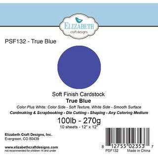 "Soft Finish Cardstock 12""X12"" 10/Pkg-True Blue"
