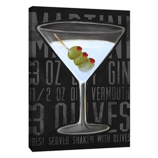 "PTM Images 9-108939  PTM Canvas Collection 10"" x 8"" - ""Martini (Vertical)"" Giclee Liquor & Cocktails Art Print on Canvas"