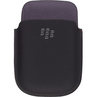 OEM BlackBerry 9670 Style Leather Pocket Pouch - Black