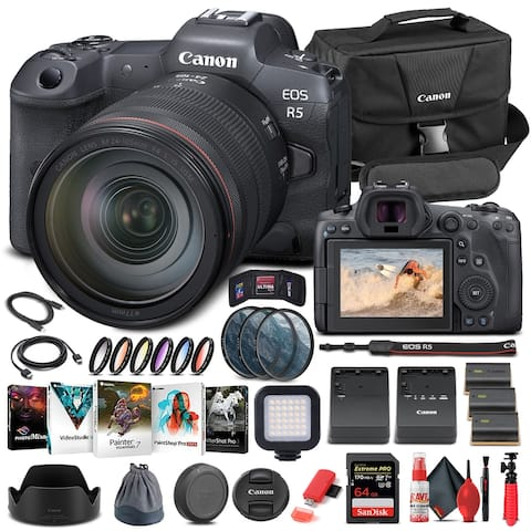 Canon EOS R5 Mirrorless Camera W/ 24-105mm f/4L Lens 4147C013 -