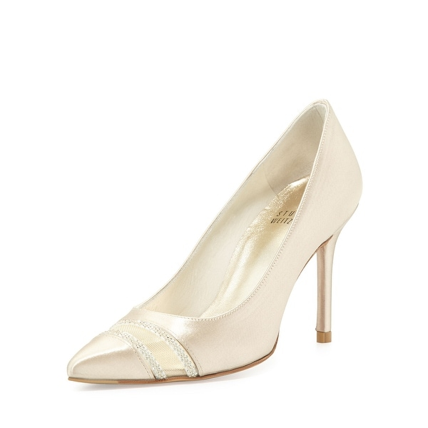 Stuart Weitzman NEW Blonde Gold Womens Shoe Size 11M Lyrics Pumps