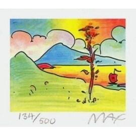 "Tree with Sailboat, Ltd Ed Litho (Mini 2.75"" x 3.125""), Peter Max"